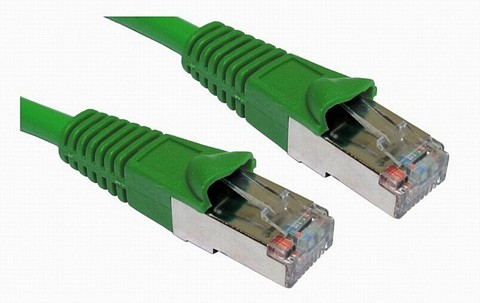 Green Cat5e Snagless Shielded Network Cables
