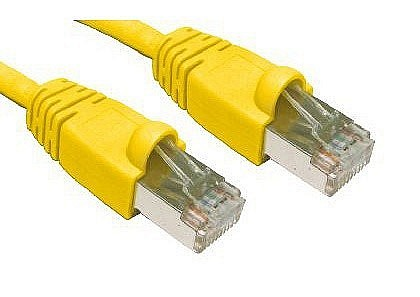 Yellow Cat6 Snagless Shielded Network Cables