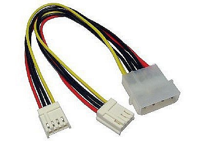 "Power Splitter Cable 5.25"" to 2 x 3.5"" Floppy"