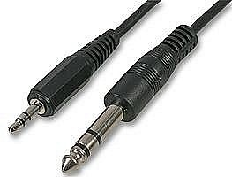 3.5mm Stereo Jack Plug to 6.35mm Stereo Jack Plug Cables