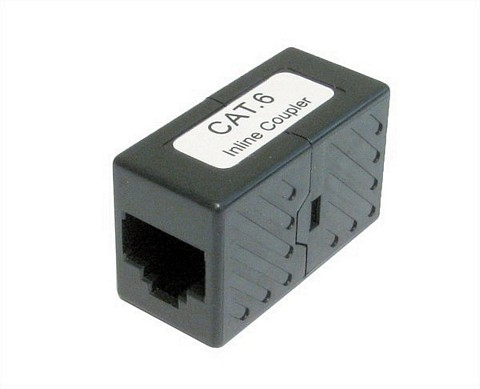 Cat 6 Black Premium RJ45 Coupler