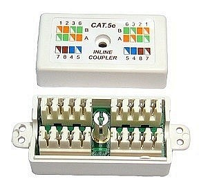 CAT 5E Punchdown / Krone Coupler White