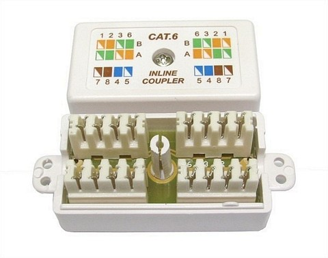 CAT 6 Punchdown / Krone Coupler White