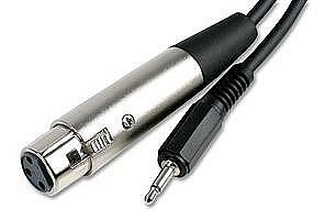 XLR Socket to 3.5mm Mono Jack Plug Cable 2m