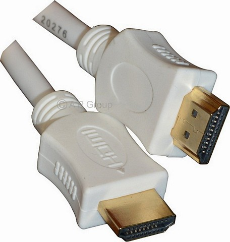 HDMI Cables White & Gold
