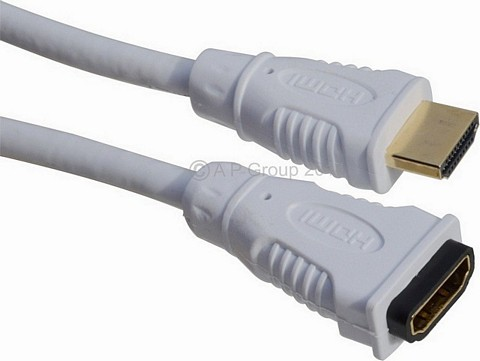WHITE HDMI Extension Cables 1.4 Specification