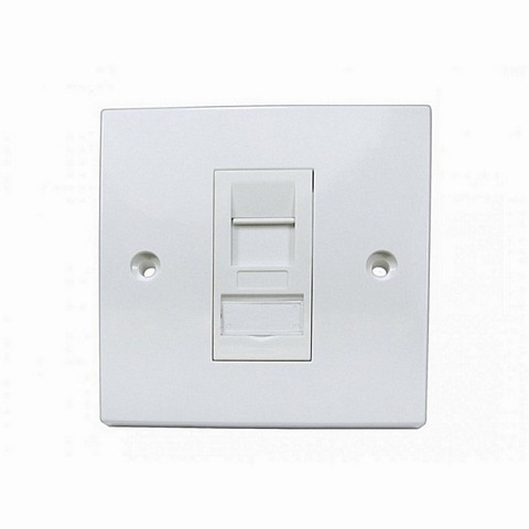 CAT6A 1 Port Single Socket RJ45  Faceplate